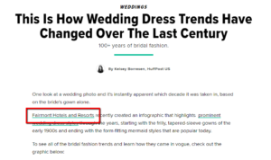 prominently placed link on HuffPost